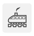 train icon black vector image