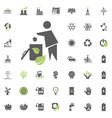 trash icon eco and alternative energy icon vector image