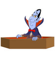 vampire raising from coffin vector image vector image