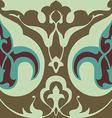 vintage floral pattern seamless background vector image