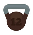 weight with 12 kg in brown and grey colors vector image