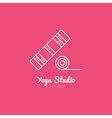 Yoga Mat Logo vector image