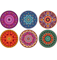 indian color ornament vector image