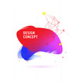 abstract graphic background dynamic color shapes vector image vector image
