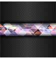 Abstract metal background with a geometric design vector image vector image