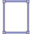 american classic blue frame vector image vector image