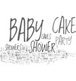 baby shower cakes guaranteed to tickle your fancy vector image vector image