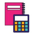 back to school flat design vector image vector image