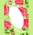 background with red roses beautiful decorative vector image