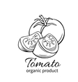 badge tomato vector image vector image