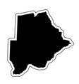 black silhouette of the country botswana with the vector image vector image