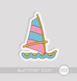 board windsurfing icon summer vacation vector image vector image
