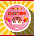 Candy Shop Retro Label vector image