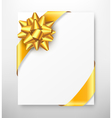 celebration paper greet card with golden festive vector image vector image