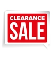 Clearance Sale patch speech bubble vector image vector image