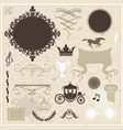 collection of design elements on vintage vector image vector image