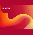 colorful wave template poster design background vector image