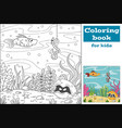 coloring book for kids vector image