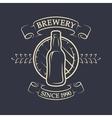 Craft brewery Vintage emblem vector image vector image