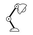 desk lamp cartoon vector image vector image