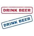 Drink Beer Rubber Stamps vector image vector image