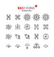 easy icons 48a network virus vector image vector image