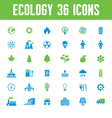 Ecology Icons Set - Creative vector image vector image