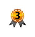 emblem best quality number 3 vector image