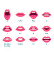 female mouth animation sexy lips speak sounds vector image