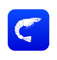 fresh sea shrimp icon digital blue vector image vector image