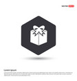 gift box icon hexa white background icon template vector image