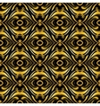 Golden ornamental background on black vector image