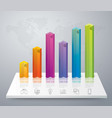 graph design with 6 steps vector image