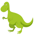 Green dinosaur with happy face vector image vector image