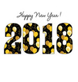 happy new year 2018 with gold balloon pattern vector image vector image
