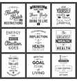 health typography quotes vector image vector image