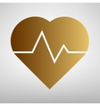 Heartbeat sign Flat style icon vector image vector image