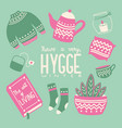 hygge concept with colorful hand lettering vector image vector image