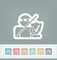 internet saferguard vector image vector image