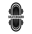 kid skateboard logo simple style vector image