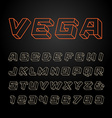 Linear font alphabet with 3d effect letters and vector image vector image