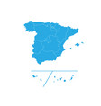 map of spain provinces high detailed map - spain vector image