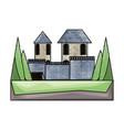 medieval castle icon image vector image vector image