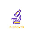 microscope icon on white vector image vector image