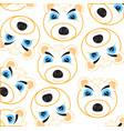 mug polar bear pattern on white background vector image vector image