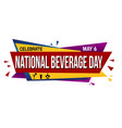 national beverage day banner design vector image