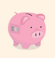 piggy bank safe money savings concept vector image