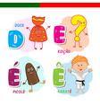 portuguese alphabet candy question mark vector image vector image