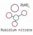 RbNO3 Rubidium nitrate molecule vector image vector image