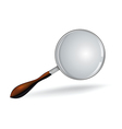 Realistic magnifying glass on white vector image vector image